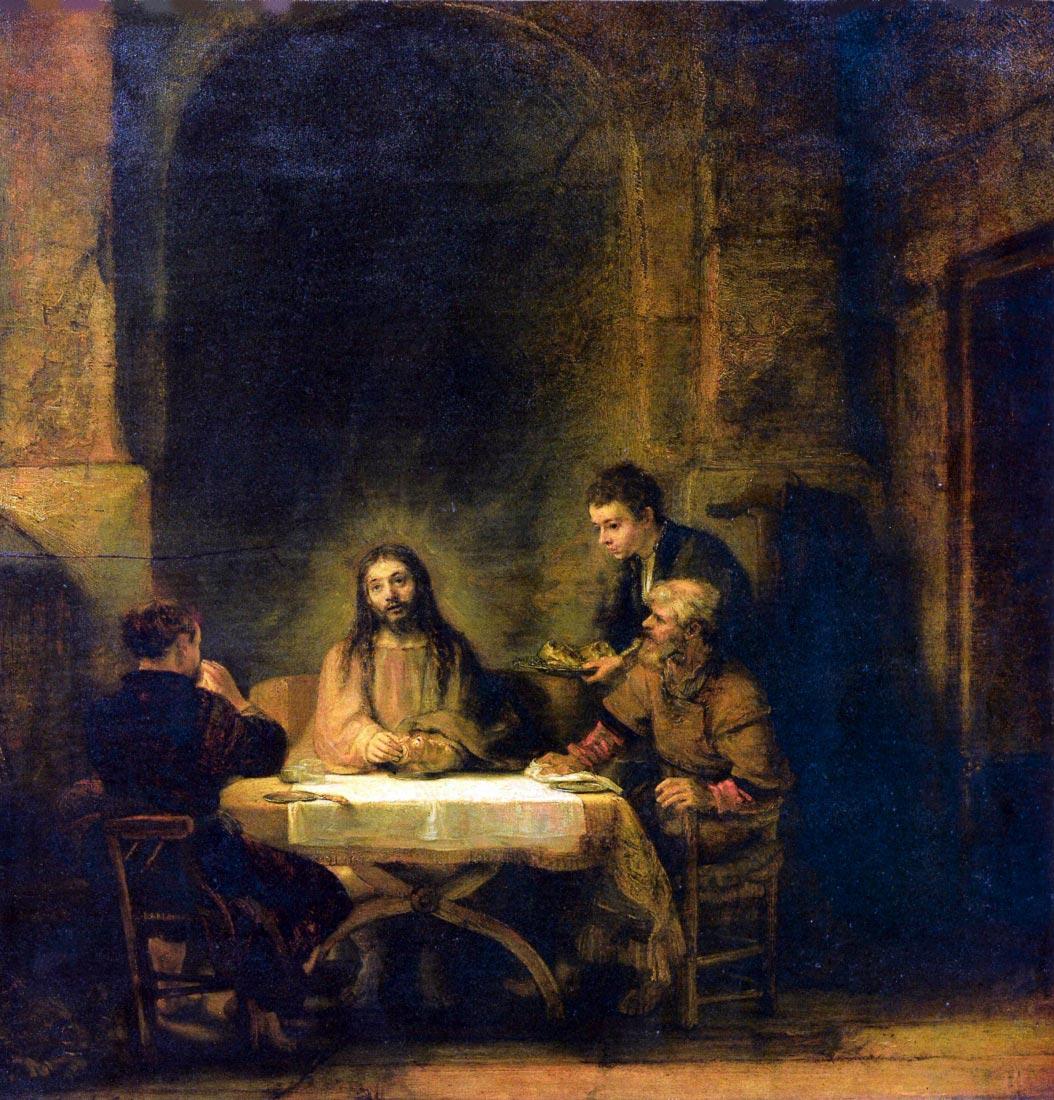 Christus in Emmaus [1] - Rembrandt